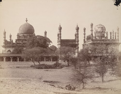 General view from the north of the tomb and mosque of the Ibrahim Rauza, Bijapur